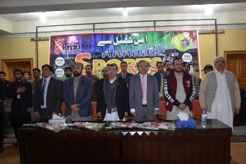 01.Former World Squash Champion Qamar Zaman and VC KMU Prof Dr Arshad Javed along with others during Inaugural Ceremony of KMU 3rd Sports Gala 20171514283109.JPG