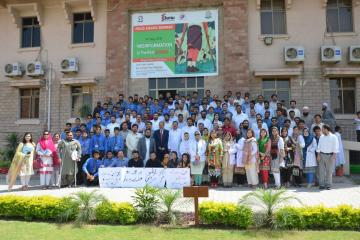 05.Group Photo of VC KMU Dr Arshad Javaid along with other participants during Polio Agahi Seminar organized by KMU and PHA1562666184.JPG
